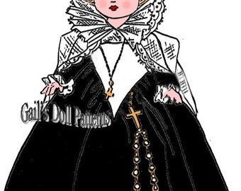 Mary, Queen of Scots Dress Pattern to fit Ginny Walker Doll