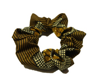 "ankara java print cotton hair scrunchie - super-size (42"")"