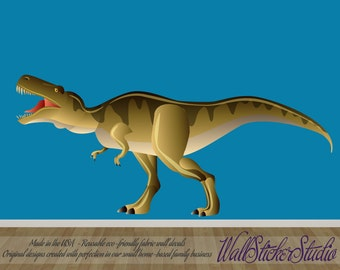 TRex FABRIC Decal, Reusable TRex Dinosaur Decal, Kids Wall Decal