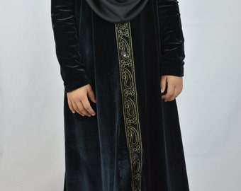 Black Abaya for girls 4- 8 years old