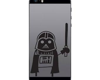 TechTattz Star Wars Darth Vader Vinyl Decal Sticker for Phone Tablet Laptop
