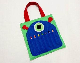 One Eyed Monster Crayon Bag / Crayon Organizer