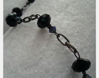 Black Crystals Bracelet