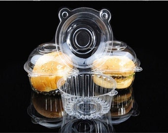 New Clear container for Individual Cake, Cupcake or Any Other Dessert. 50 Pcs.