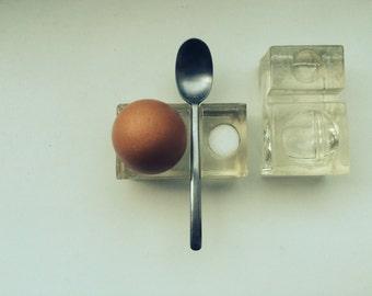 Vintage glass egg Cup set