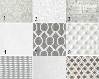 Custom 2 or 3 piece Crib Bedding - Cool Neutrals