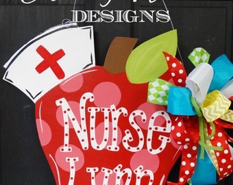 Lastest School Nurse Gift Nursing Decor Office Door Nursing Gift