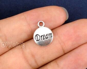 35pcs of Antique Tibetan silver Dream Charm pendants 15x12mm