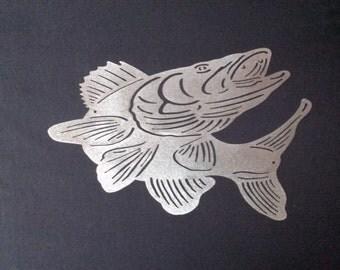 Walleye Fish Metal Wall Art Home Decor