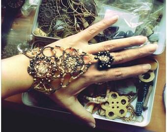 Beaded slave bracelet