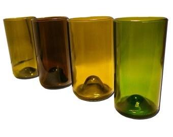 Refresh Glasses 16oz Made From Wine Bottles (Set of 4)