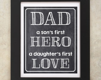 Dad chalkboard sign 8x10 INSTANT DOWNLOAD
