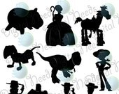 10 Toy Story Silhouettes / png and SOURCE files / Movie Silhouette /  INSTANT DOWNLOAD