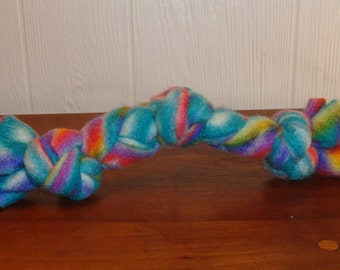 Braided fleece dog toy 7 inches for the small dog /puppy, great colors