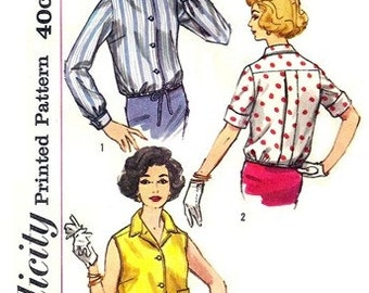 Simplicity 2733 Ladies' Night Out Overblouse 1960's / SZ12 UNCUT