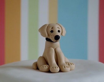 Golden Labrador Cake Topper Figurine