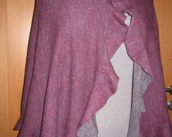 Handmade beautiful purple/gray shawl/wrap