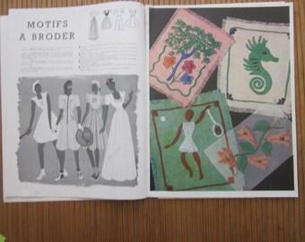 french vintage magazine for needle work and needle knitting