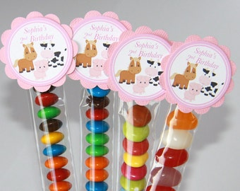 Farm Lolly Tube Candy Favour