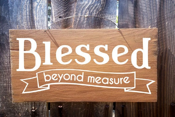 Blessed Beyond Measure Sign, Thanksgiving decor, autumn decor, fall decor, thanksgiving sign, holiday sign, fall sign, 259
