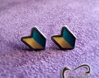 Fun Emoji JDM Honda Subaru Toyota Mazda Mitsubishi Nissan Car Lover Earrings