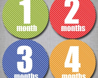 Baby Monthly Stickers Milestone Monthly Stickers Neutral Stickers Month by Month [N010]