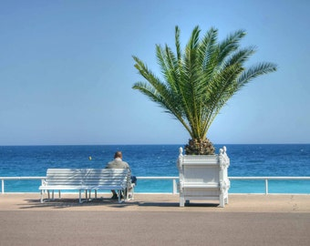 Seafront, Nice, France - 2 - photographic print