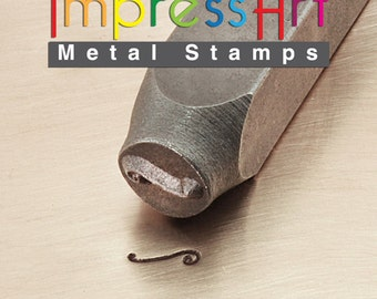 Flourish F ImpressArt Metal Design Stamp 6mm - Right