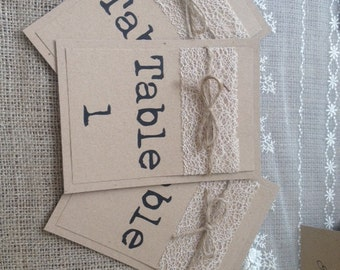 1 Rustic/Vintage Shabby chic Style 'typewriter' wedding table number
