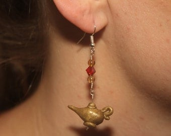 Le Disney's Aladdin Inspired Genie's Lamp Earrings