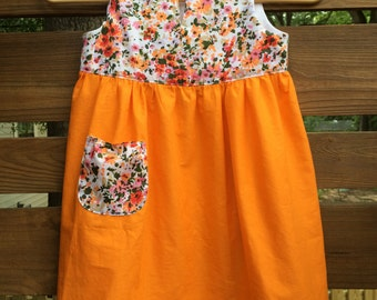 100% cotton girls dress - size 4