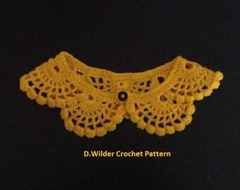 PDF Crochet Scalloped Lace Collar Pattern