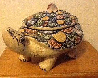 Vintage Mexican Pottery, Turtle