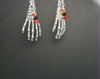 Skeleton Hands with Swarovski Crystals