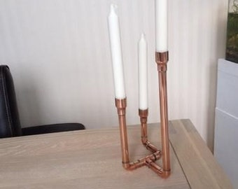 Industrial Design Copper Candlestick