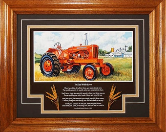 """Allis Chalmers Model WD45 1953 to 1957 with poem """"To Dad With Love"""""""