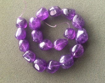 Full Strand Natural Amethyst Freeform Nugget Beads