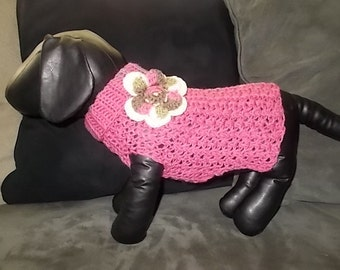 New Raspberry with Pink Camo Flower Turtleneck Sweater Dog Clothing Yorkie Chihuahua Extra-Small XS