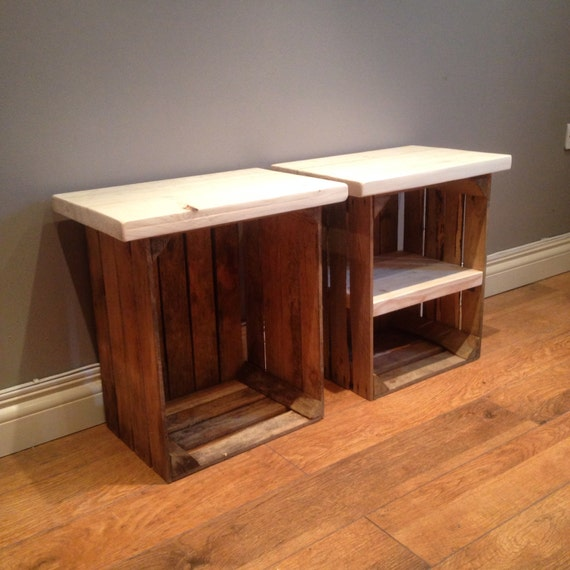 Crate side tables for your living room or bedroom chunky