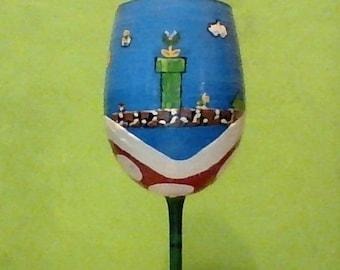 Super Mario Video Game Wine Glass