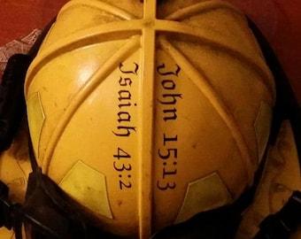 John 15:13 Fire Helmet Vinyl