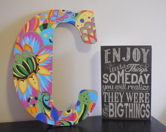 18 Inch Custom Painted Wooden Letter
