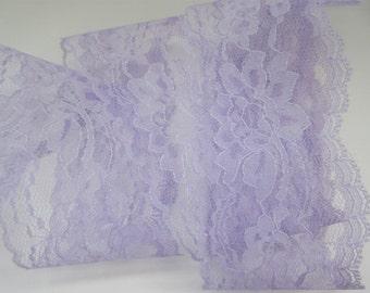 "Lavender Lace Trim Ribbon 3"" inch wide Purple Floral  Flower Design Baby Shower Sewing Wedding Bridal Gift Wrap Gift Basket Home Decor WL042"