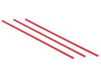 "Coffee Stirrers - Coffee Straws - Coffee Mixer - Red with White Stripe - 5"""