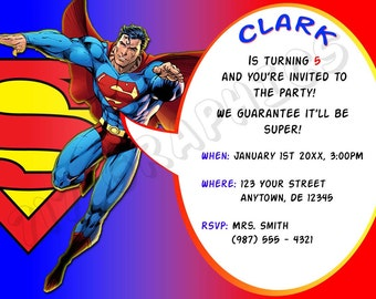 Superman Birthday Invitation - Printable