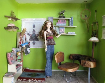 Nature Love: hand crafted room box/diorama 1/6 scale for blythe, momoko, fashion royalty, barbie...