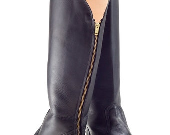Aurora. Knee-high Leather Boots.