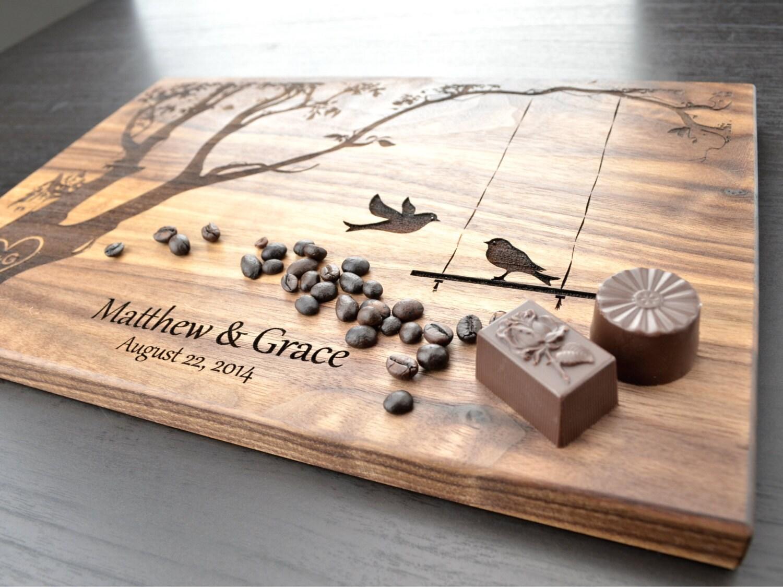 Wedding Gift Cutting Board: Personalized Cutting Board Wedding Gift Custom Housewarming
