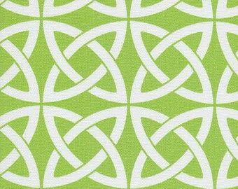 Linked In Lime Green Indoor Outdoor contemporary Fabric