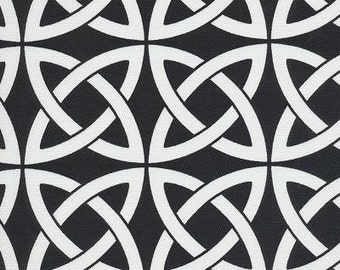 Linked In Black & White Indoor Outdoor contemporary Fabric